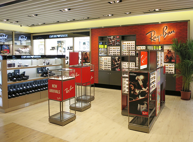 official ray ban shop  luxottica and dfs open ray ban shop in shop at hkia's midfield concourse