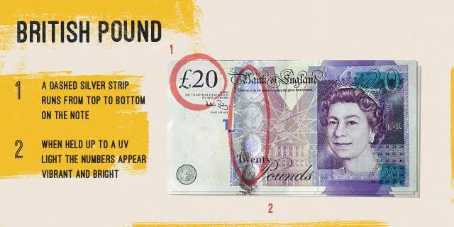 does british pound have gold strip tending