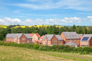 housing estate near fields