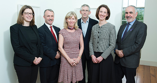 Left to right: Dr Siobhán Cusack; Prof Colin Bradley; Prof Mary Horgan, UCC; Declan Naughton, Road Safety Authority; Dr Carol Sinnott, UCC; and Prof Des O'Neill, National Programme Office for Traffic Medicine