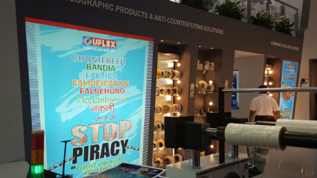 Anti-counterfeiting solutions by Uflex at DRUPA